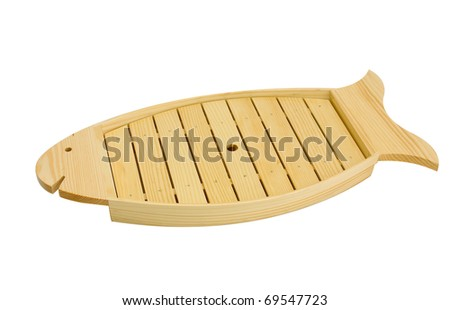 Empty fish tray  for put your idea or stuff on it, mostly for Japanese or Chinese food, the image isolated on white