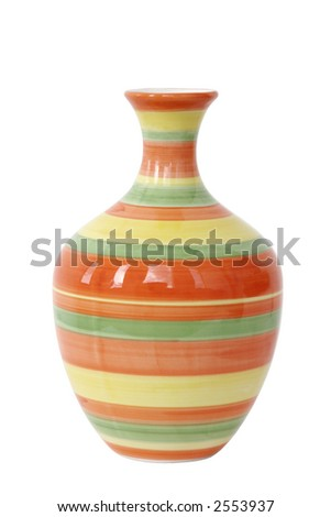 Empty flower vase with circles