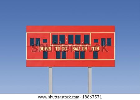 Empty football scoreboard