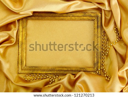empty frame on beautiful silk