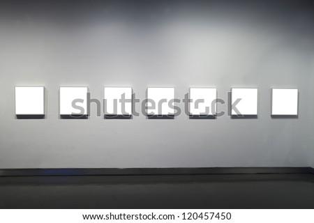 empty frames in museum