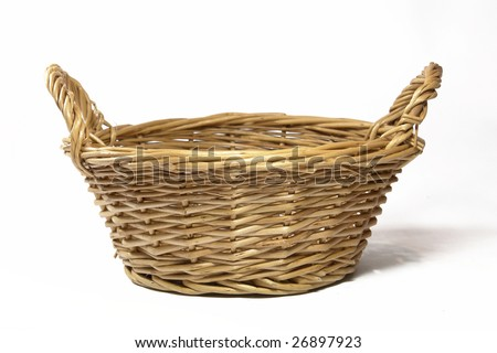Empty fruit flower basket