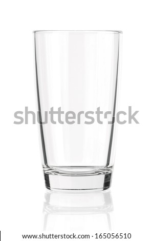 Empty glass for water, juice or milk
