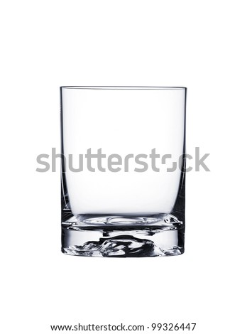 Empty glass for whiskey - stock photo
