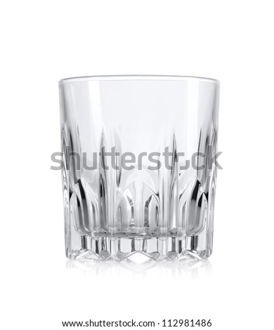 Empty glass for whiskey Empty glass for whiskey isolated over white background