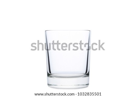 Empty glass isolated on a white #1032835501