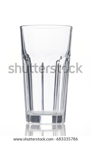 Empty glass isolated on a white background #683335786