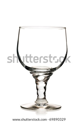 Empty glass isolated on a white background - stock photo