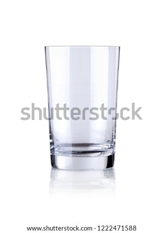 empty glass isolated on white   #1222471588