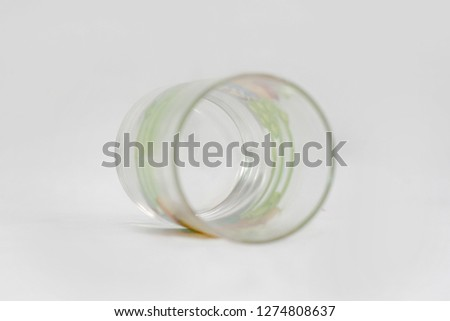 Empty glass isolated on white background #1274808637