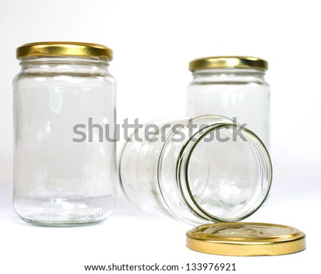 Empty Glass Jars - stock photo