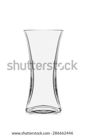 Empty glass vase isolated on white #286662446