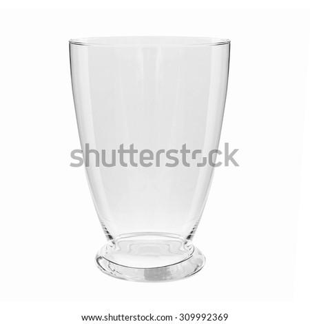 Empty glass vase, isolated on white background  #309992369