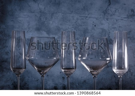 empty glasses gray  wineglass wineglass #1390868564