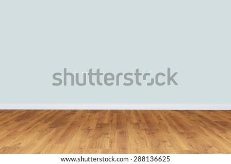 Empty gray wall room with wooden floor
