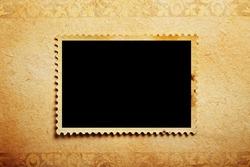 empty grunge post stamp