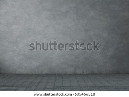 Empty grunge room or building exterior background with copy space #605466518