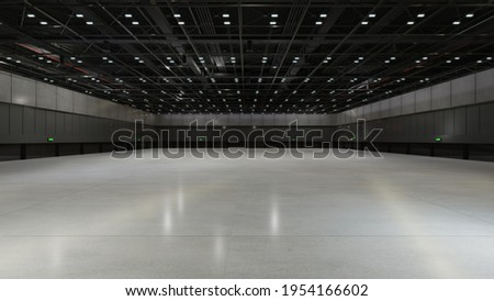 Empty hall exhibition center. backdrop for exhibition stands.3d render. Stock fotó ©