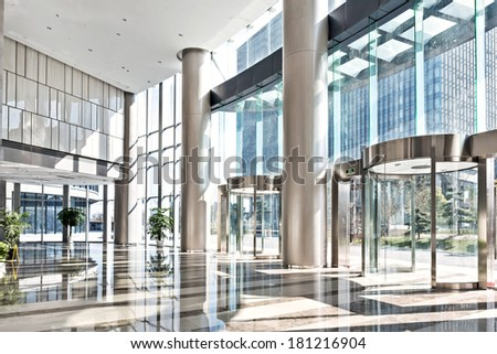 empty hall in the modern office building.