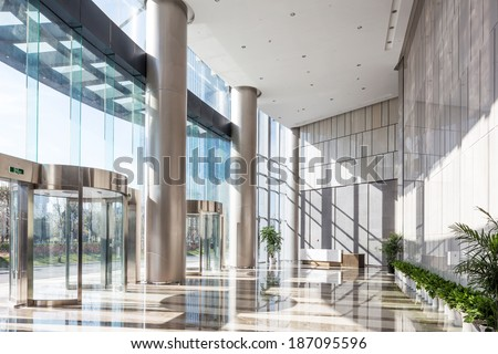 empty hall in the modern office building