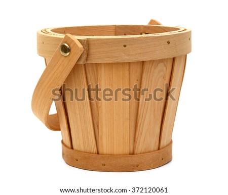 Empty harvesting basket isolated on white