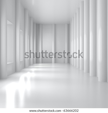 Empty Home Interior - 3d illustration