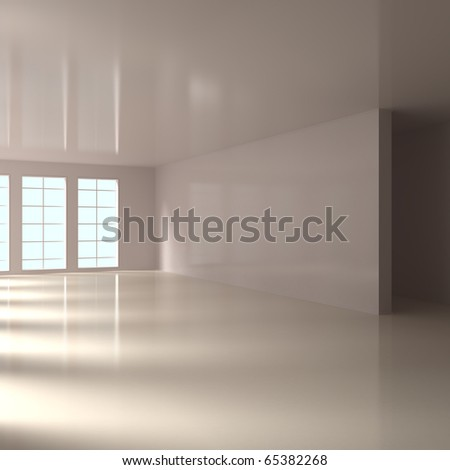Empty Home Interior - 3d illustration