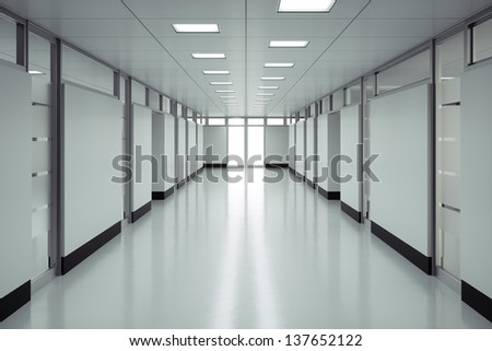 Empty hospital floor - High quality render