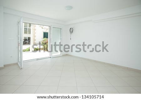 Empty house interior completely unfurnished