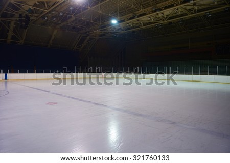 empty ice rink, hockey and skating arena  indoors #321760133