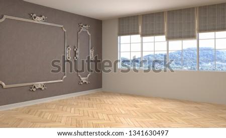 Empty interior. 3d illustration #1341630497