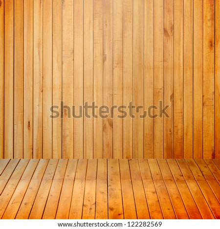 Empty interior room with wood wall