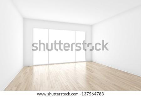 empty interior with big window