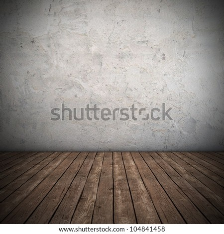 Empty interior with dirty wall - 3D render