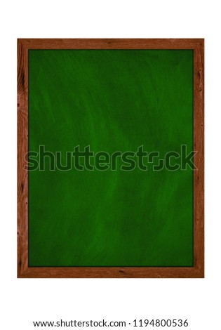 65d0c068d44c06 Empty isolated green chalkboard with wooden frame  1194800536