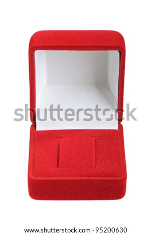 Empty jeweller box on white background