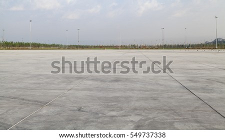 Empty Large Concrete Ground Panorama #549737338