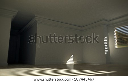 empty large room with white walls and wooden floor