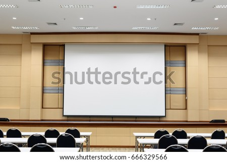 Empty lecture and conference hall in university.Interior meeting room. Stock photo ©
