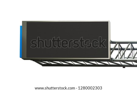 Empty LED billboard screen isolate on white background ,for advertisement and design. LED promotion banner display on street ,Screen mock up template. #1280002303