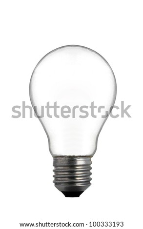 Empty Light Bulb isolate on white