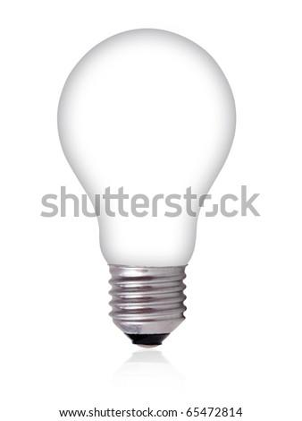 Empty Light Bulb on white background