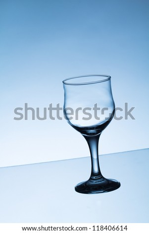 Empty liquor glass