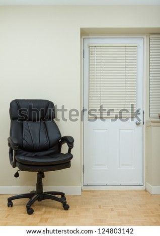 Empty Living room and office Leather chairman chair