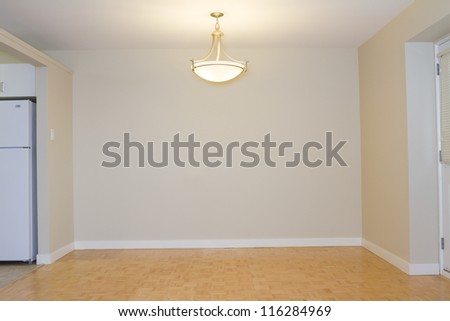 Empty Living Room in a new apartment