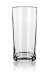 Empty long drink glass isolated
