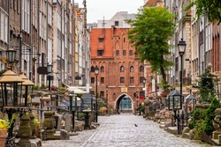 Empty Mariacka street in Gdansk old town at early morning. Mariacka street is one of the most notable tourist attractions in Gdansk, Poland