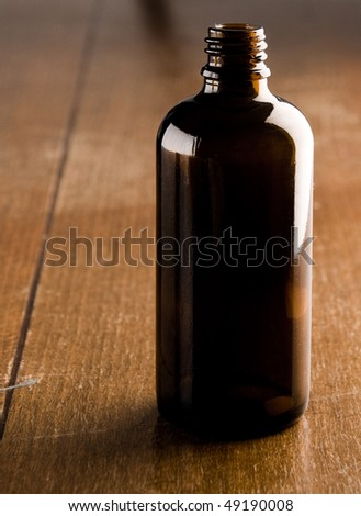empty medicine bottle