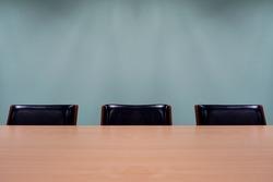 Empty meeting room seat