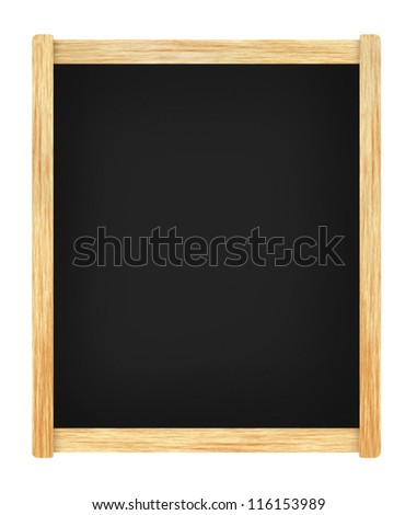 Empty menu board with wooden frame